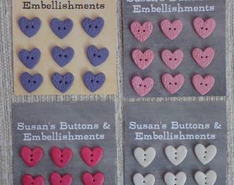 "3/4"" Heart-shaped Buttons"