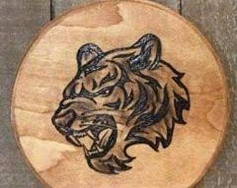 Tiger wood burn