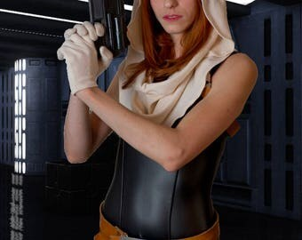 Mara Jade Black Bodysuit and Cowl