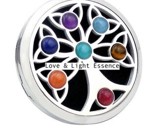 Chakra Car Diffuser- Tree of Life with Gemstones