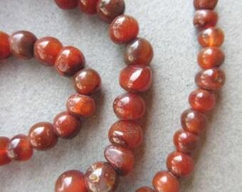 Round Carnelian Stone Beads [66895]