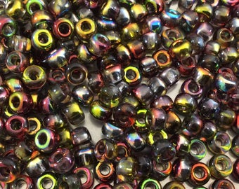 Size 6/0 Glossy Crystal-Base Magic Apple Miyuki/Czech Unions Glass Seed Beads - Sold by 20 Gram Tubes (~200 Beads/Tube) - (6-131-95600)