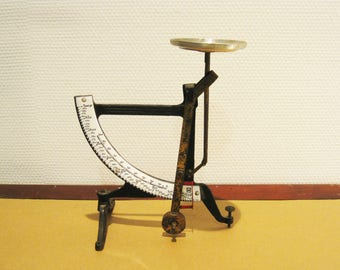 Letter Scale | Cast Iron Postal Scale with White Enameled Plate