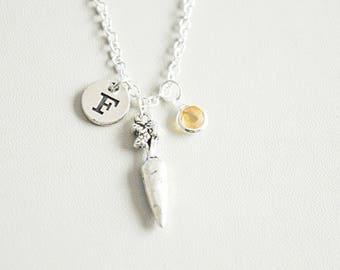 Carrot Necklace, Carrot Jewelry, Carrot Charm, Carrot Gift, Gift for Vegetarian, Vegetable bracelet, Vegetable, Vegan Christmas gift,present