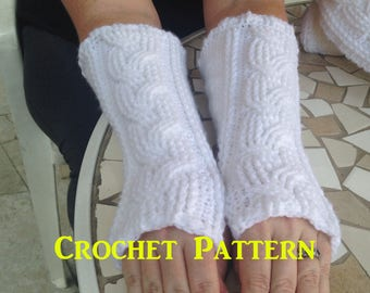 Crochet Gloves, Cable Crochet Pattern, Fingerless Gloves Pattern, PDF Cables, How to Make Gloves, How to Crochet, Glove Pattern, Cables