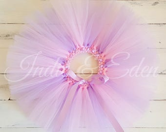 Baby tutu Pink Lilac Blue White Tutu Pastel colours for girls birthday photo prop cake smash baby toddler skirt