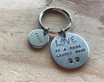 Personalized pet keychain pet sympathy gift pet loss gift pet memorial keychain pet remembrance keychain in memory of dog in memory of cat