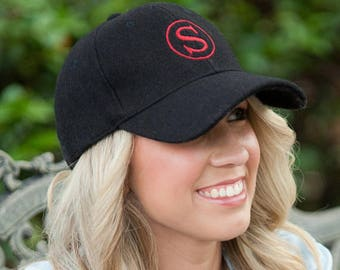 Monogram Wool Cap-Embroidered Wool Baseball Hats-FREE SHIPPING!!!