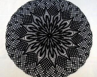 16'' round handmade cotton crochet doily
