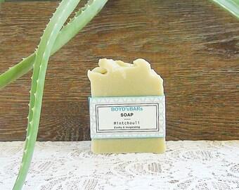 Fresh Handmade Soap - Spearmint Patchouli Soap Bar,  Handmade Vegan Artisan All Natural Soap