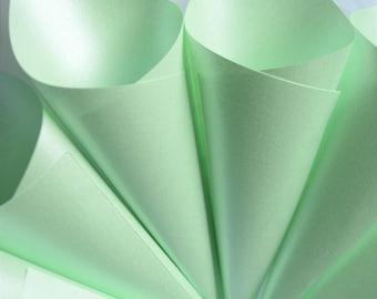 Confetti cones, Pale Green Cones,  Sweet Cones, Mint green Confetti Cones, Ready made cones