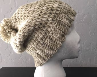Teen / Woman Slouchy Hat, Hand-crochet.