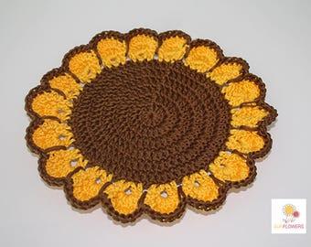 """Sunflower"" doily"