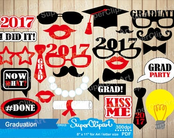 Graduation Party, Graduation photo booth props , Graduation Centerpiece