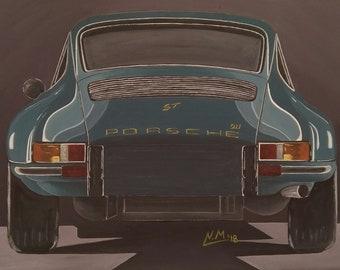 PORSCHE 911 ST - acrylic painting canvas board