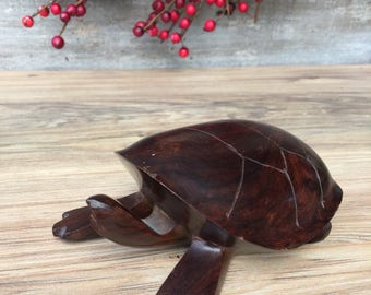 Wood Turtle Ironwood Turtle Carved Turtle ReFabulousReVamped ReFabulous