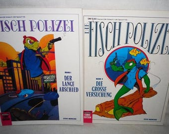 The Fish Police-Volume 1 and Volume 2-Beautiful condition-Bastion comics-vintage comic