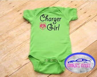 Charger Girl Infant One Piece Bodysuit (creeper) Perfect gift for the Dodge Charger car lover & their little girl!