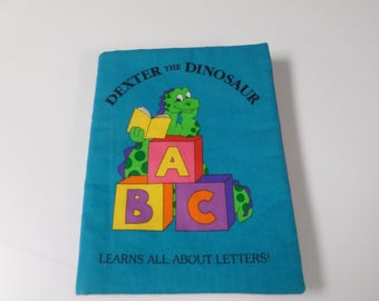 Dexter the dinasaur soft baby book learn about letters