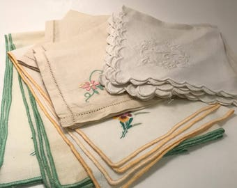 An assorted selection of table napkins