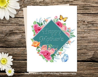 Printable  Card, Mothers Day, Greeting Card, Birthday  Printable Cards, Digital Download