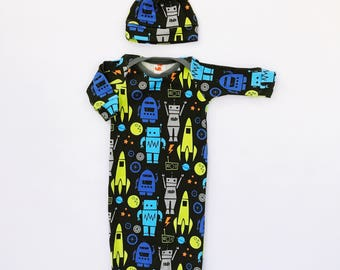 baby boy, newborn outfit, take home outfit, coming home outfit, baby boy gown, baby sleep sack, baby sleep gown, preemie boy clothes
