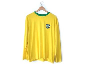 Retro Brazil Football top