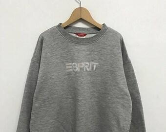 20% OFF Vintage Esprit Spell Out Sweatshirt/Esprit Big Logo/Esprit Clothing/Esprit Sweater