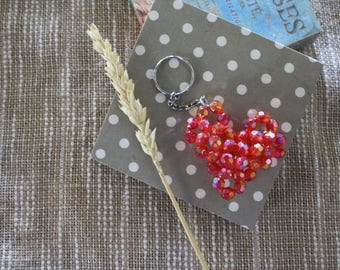 Jewelry bag or key ring made of Czech glass beads
