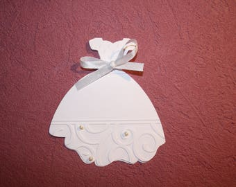 Announcements baptism or birthday with personalized white dress size