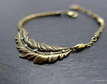 Art deco leaf bracelet leaf bracelet