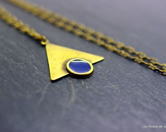 Art deco pendant triangle, triangle pendant