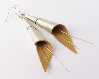 """""""arum"""" champagne earrings, silver plated"""
