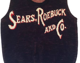Vintage 1960s Sear Roebuck and Co Sweat Vest Mens Size XS/S