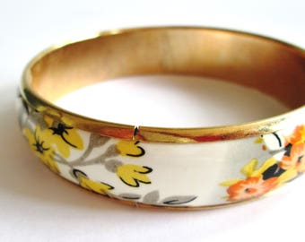 Vintage metal and plastic bangle