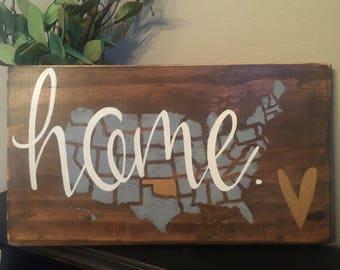 Custom State Sign | Custom Color | Hand Painted | Wedding Gift Item | Housewarming Gift Item