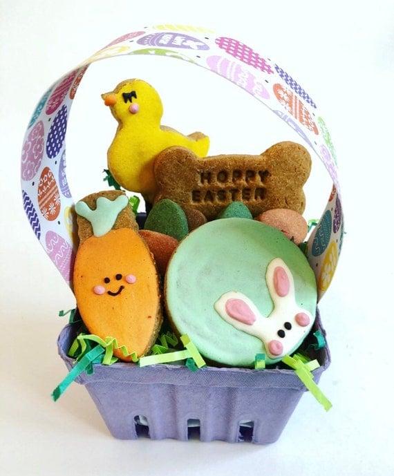 """""""Hoppy Easter"""" Doggie Easter Basket"""