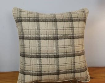 Cushion Preline Cover Ashley Wilde Edderton Tartan Check 16 x 16 LilleyBee