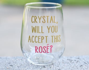 Customized bachelor monday wine glass