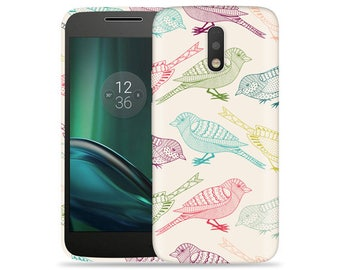 Motorola G4 Case - Moto G Case (4th Gen) XT1625 XT1621 XT1626 #Flock Of Colors Cool Design Hard Phone Case