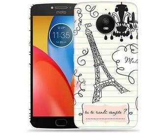Motorola Moto E4 Case - Motorola E4 Case #When in Paris Hard Phone Cover