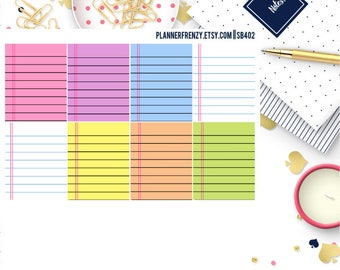 8 Colored Notebook Planner Stickers! SB402