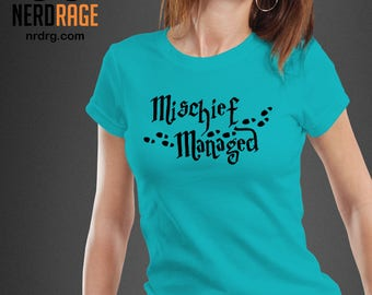 Harry Potter Tshirt - Mischief Managed Shirt - Harry Potter Inspired Tee - Custom Tshirts Available