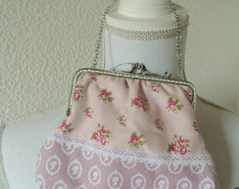 Vanity case with Silver Clasp and chain