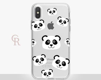 Panda iPhone X Clear Case For iPhone 8 iPhone 8 Plus - iPhone X - iPhone 7 Plus - iPhone 6 - iPhone 6S - iPhone SE - Samsung S8 - iPhone 5