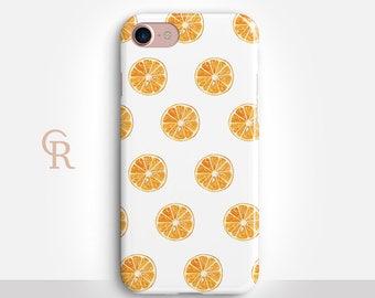 Orange Phone Case For iPhone 8 iPhone 8 Plus iPhone X Phone 7 Plus iPhone 6 iPhone 6S  iPhone SE Samsung S8 iPhone 5 Samsung S7 Edge