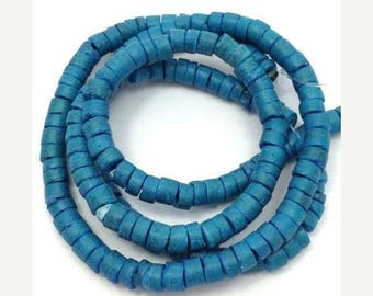 SALE 15% OFF Coconut beads, blue, 5 mm, heishi, 1 strand, 150 pieces, coco beads, blue, natural beads, natural beads, natural jewelry