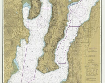 Hood Canal Map 1984