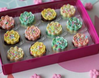 Pastel Flower Chocolates
