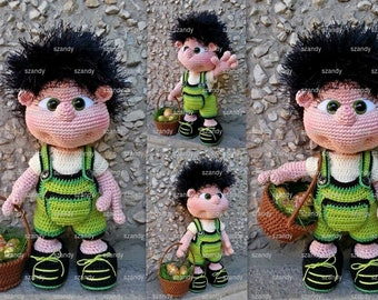 Easter Elf Boy amigurumi PATTERN crochet